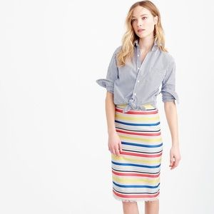 NWT Colorful jacquard striped skirt